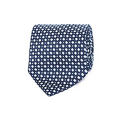 The Collection - Blue mini diamond print tie