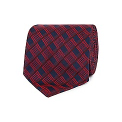 The Collection - Red bold checked tie