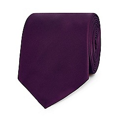 The Collection - Purple plain slim tie