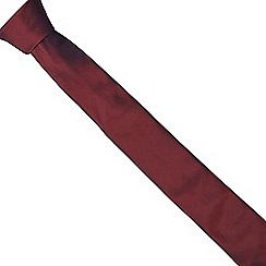 The Collection - Dark red shimmer slim tie