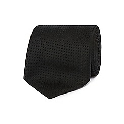 The Collection - Black plain textured tie
