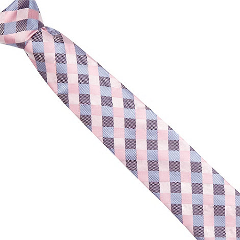 Thomas Nash - Pink textured check tie