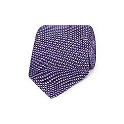 The Collection - Purple silk textured regular tie