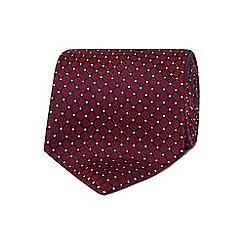 The Collection - Red geometric diamonds silk tie