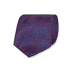 The Collection - Purple paisley silk tie