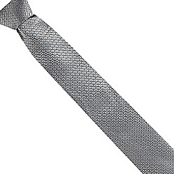 The Collection - Grey geometric silk tie