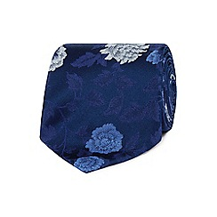 The Collection - Navy bold floral silk tie