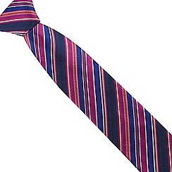 The Collection - Red silk striped tie