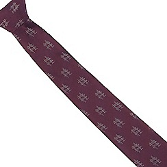 The Collection - Purple slim oriental print slim tie