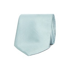 The Collection - Pale green ribbed slim silk tie