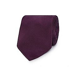 The Collection - Purple ribbed slim silk tie