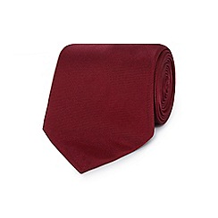 The Collection - Dark red ribbed silk tie