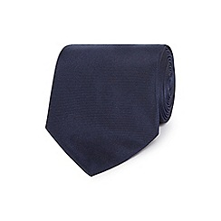The Collection - Navy woven silk textured tie