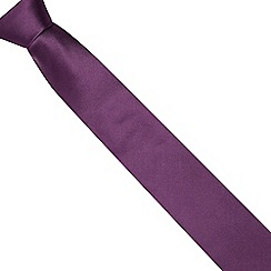 The Collection - Purple woven silk textured tie