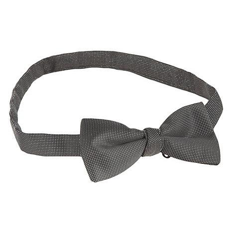 Black Tie - Silver Lurex Bow Tie