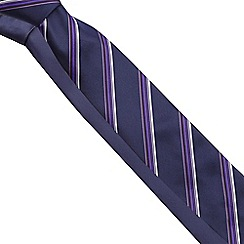 The Collection - Set of two purple striped ribbed ties