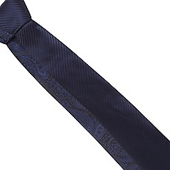 Thomas Nash - Pack of two navy striped and paisley ties