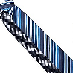 The Collection - Pack of two blue patterned ties