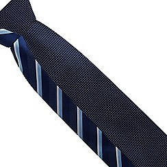 The Collection - Pack of two navy striped and dotted ties