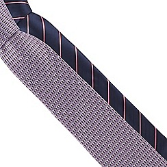 The Collection - Pack of two navy and purple printed slim ties