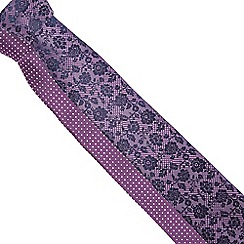 The Collection - Pack of two purple floral ties