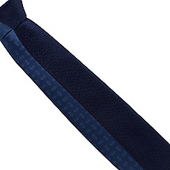 The Collection - Pack of two navy and blue printed slim ties