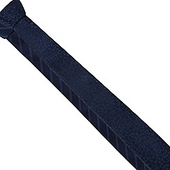 The Collection - Pack of two navy striped and floral slim ties