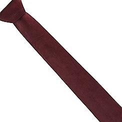 Black Tie - Dark red velvet tie