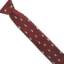 The Collection - Dark red glitter penguin slim tie