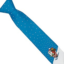 The Collection - Blue skiing Santa tie