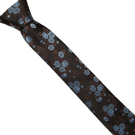 St George by Duffer - Blue jacquard floral tie