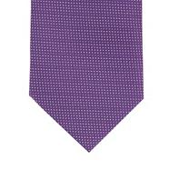 Purple pin dot slim tie