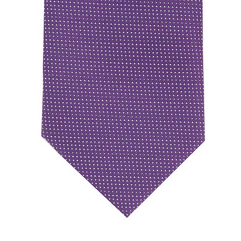 Red Herring - Purple pin dot slim tie