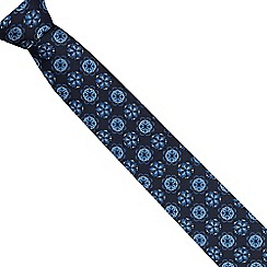 Jeff Banks - Blue geometric floral tie