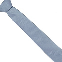 Red Herring - Light blue textured slim tie