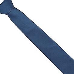 Red Herring - Dark blue textured slim tie