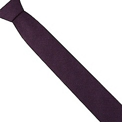 Red Herring - Purple wool blend slim textured tie