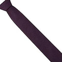 Red Herring - Purple wool blend slim textured tie