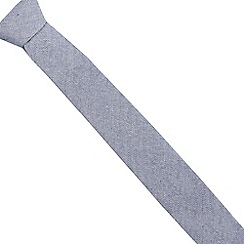 Red Herring - Dark blue herringbone striped slim tie