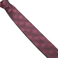 Red Herring - Dark pink tonic square skinny tie and pocket square