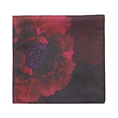 Red Herring - Dark pink floral pocket square