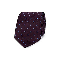 Jeff Banks - Purple silk polka dot tie