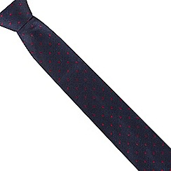 Jeff Banks - Navy polka dot tie