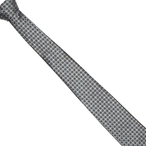 Jeff Banks - Designer grey geometric spot tie