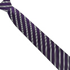 Jeff Banks - Purple triple striped silk tie