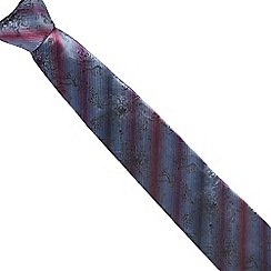 Jeff Banks - Blue floral striped silk tie
