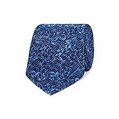 Jeff Banks - Blue floral print tie