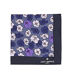 Jeff Banks - Purple floral silk pocket square