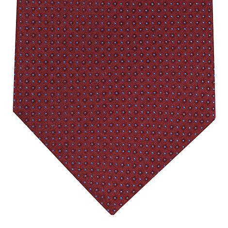 J by Jasper Conran - Designer dark red geometric pin dot tie