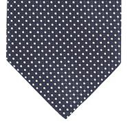 Designer navy pin dot tie